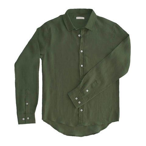 98 Coast Av Linen Shirt Green