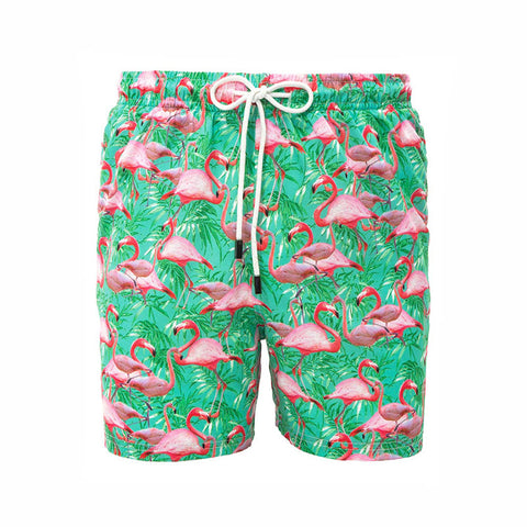 98 Coast Av Flamingos Trunks Green