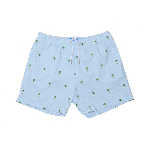 Bermies Trunks Palm Trees Blue Classics