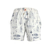Mazu Swimwear Trunks Blueprints White