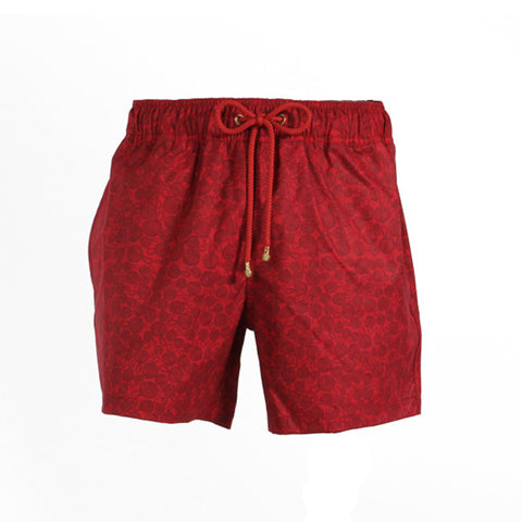 Mazu Swimwear Trunks Knots Red