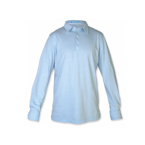 Strong Boalt The George L/S Polo Light Blue
