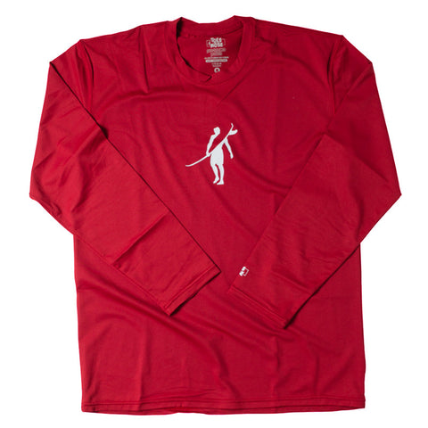 Toes on the Nose Element Guard  L/S Tee Red