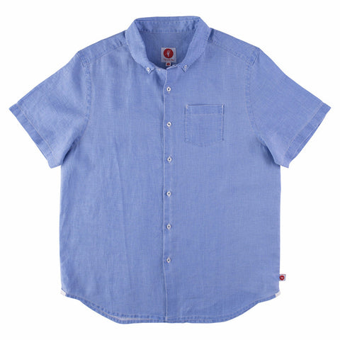 Toes on the Nose Hamptons S/S Button Down Blue