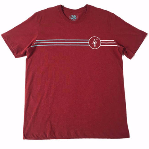 Toes on the Nose Triple Stripe Tee Red