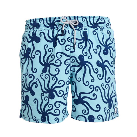Tom & Teddy Trunks Octopus Blue