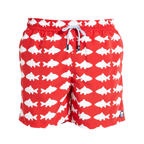 Tom & Teddy Trunks Fish Red