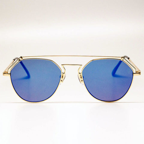 YHF Stephanie Blue Sunglasses