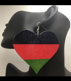 Black Love Earrings