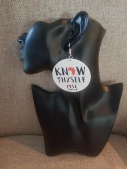 Know thyself. Love Thyself Earrings.