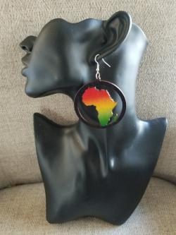 African Map Earrings - Adelani Treasures