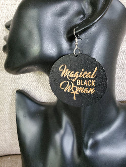 Magical Black Woman Earrings - Adelani Treasures