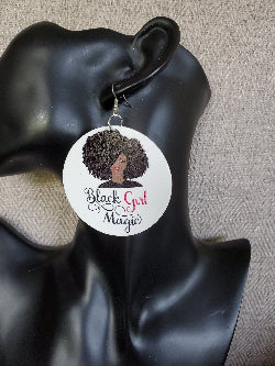 Black Girl Magic Earrings - Adelani Treasures