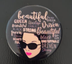 Beautiful Stong Woman Button