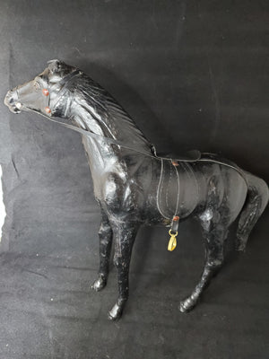 Black Leather Horse - Adelani Treasures