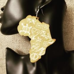 Adinkra Symbols Wooden Earrings