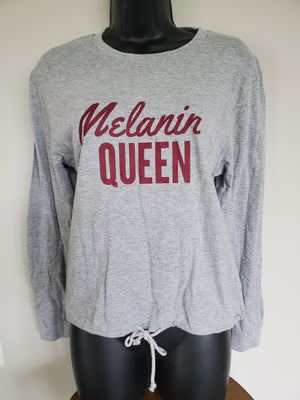 Melanin Queen Drawstring Shirt-large - Adelani Treasures