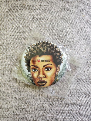 I love my roots Button - Adelani Treasures