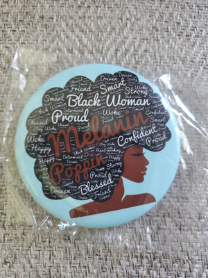 Melanin Poppin' Button - Adelani Treasures