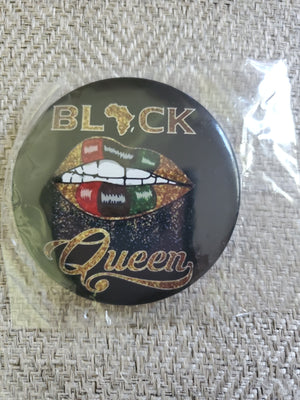 Black Queen Button - Adelani Treasures