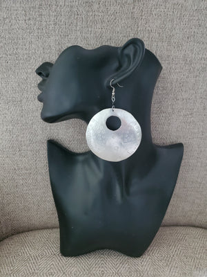 Large Tin Hoop Earrings - Adelani Treasures