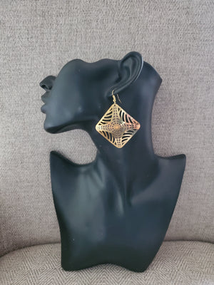 Brass Earrings - Adelani Treasures