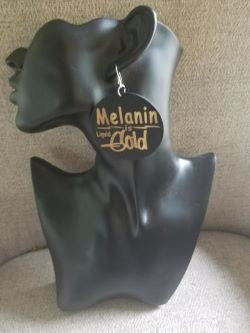 Melanin is Gold Earrings