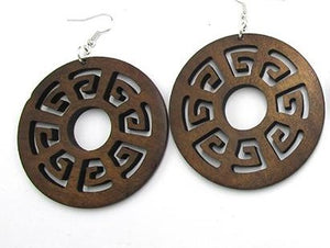 Round Wood Earrings - Adelani Treasures