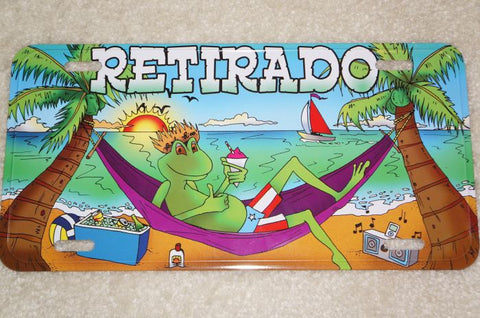 Retirado, Coqui and Hammock License Plate