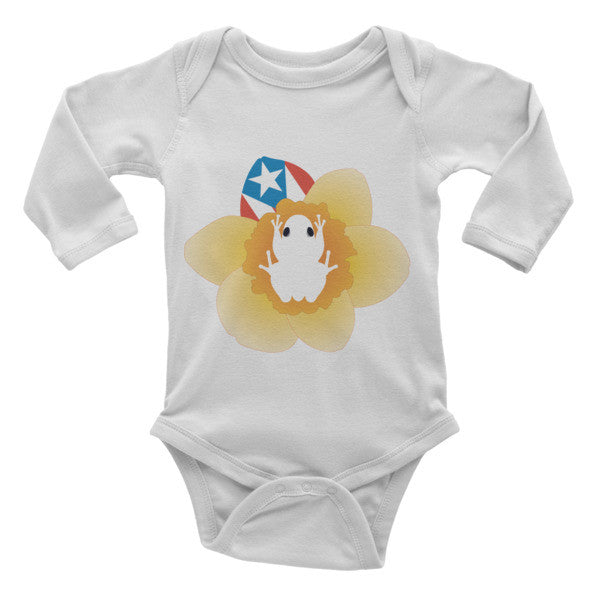Puerto Rico Coqui and Flag Infant long sleeve one-piece Infant/Toddler - MyBorinquen.com Web Store