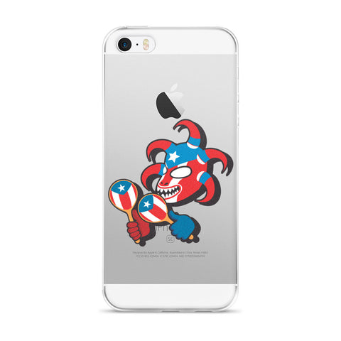 Puerto Rico Flag Vejigante iPhone case Cell Phone Case - MyBorinquen.com Web Store
