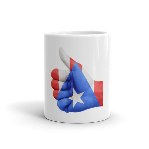 Puerto Rico Flag Thumbs Up Hand Mug