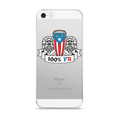 Conga, Puerto Rico Flag and Taino Symbol iPhone case Cell Phone Case - MyBorinquen.com Web Store