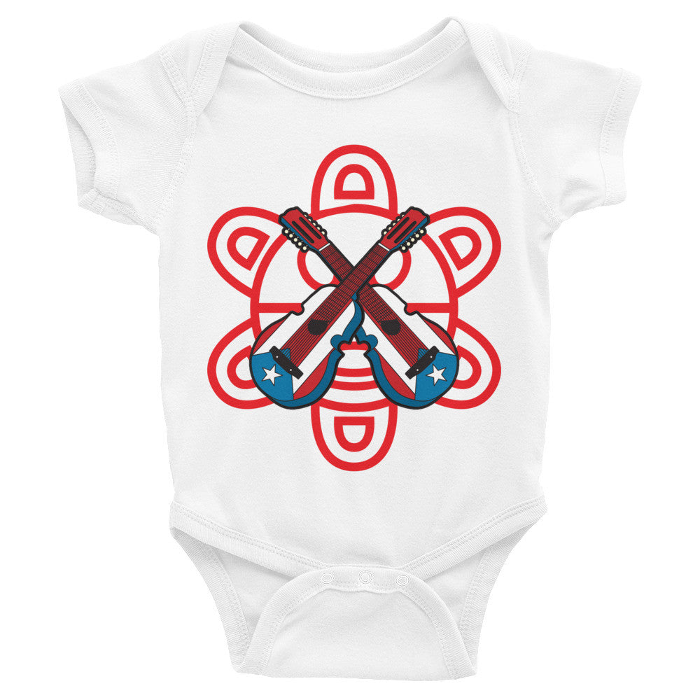 Puerto Rico Cuatro and Taino Sun Infant short sleeve one-piece Infant/Toddler - MyBorinquen.com Web Store