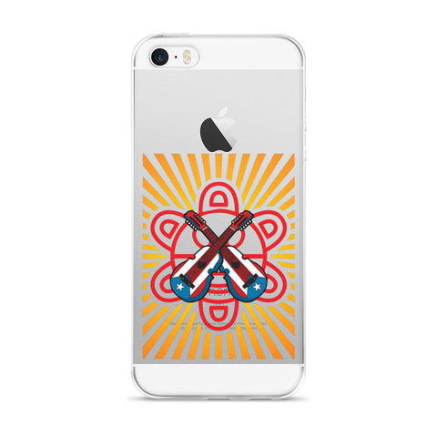 Puerto Rico Cuatro and Taino Sun with Rays iPhone case  - MyBorinquen.com Web Store