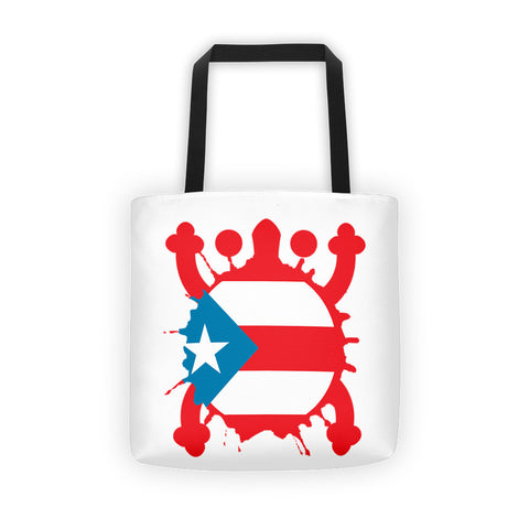 Puerto Rico Coqui and Sun Tote bag Apparel - MyBorinquen.com Web Store