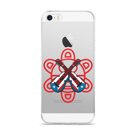 Puerto Rico Cuatro and Taino Sun iPhone case