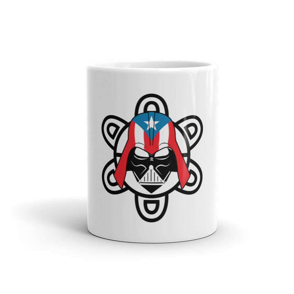 Puerto Rico Darth Vader with PR Flag and Taino Sun. Mug Mug/Cup - MyBorinquen.com Web Store