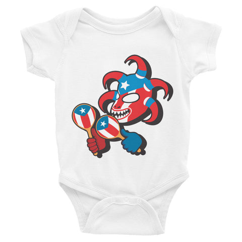 Puerto Rico Vejigante Infant short sleeve one-piece Infant/Toddler - MyBorinquen.com Web Store