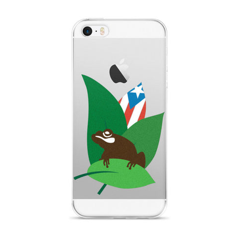 Puerto Rico Coqui and Flag Leaf iPhone case Cell Phone Case - MyBorinquen.com Web Store