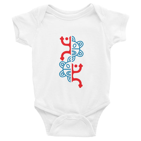 Puerto Rico Coqui and Sun. Infant short sleeve one-piece Infant/Toddler - MyBorinquen.com Web Store