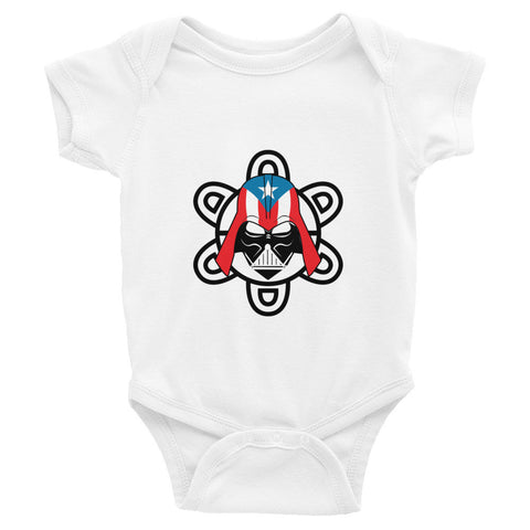 Puerto Rico Darth Vader with PR Flag and Taino Sun. Infant short sleeve one-piece Infant/Toddler - MyBorinquen.com Web Store