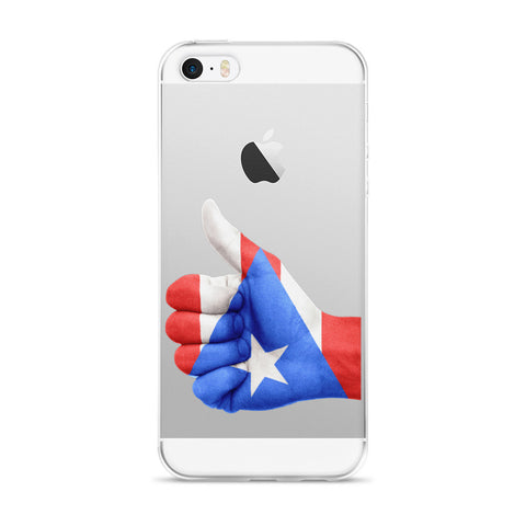 Puerto Rico Flag Thumbs Up Hand iPhone case  - MyBorinquen.com Web Store