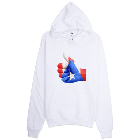 Puerto Rico Flag Thumbs Up  Hoodie