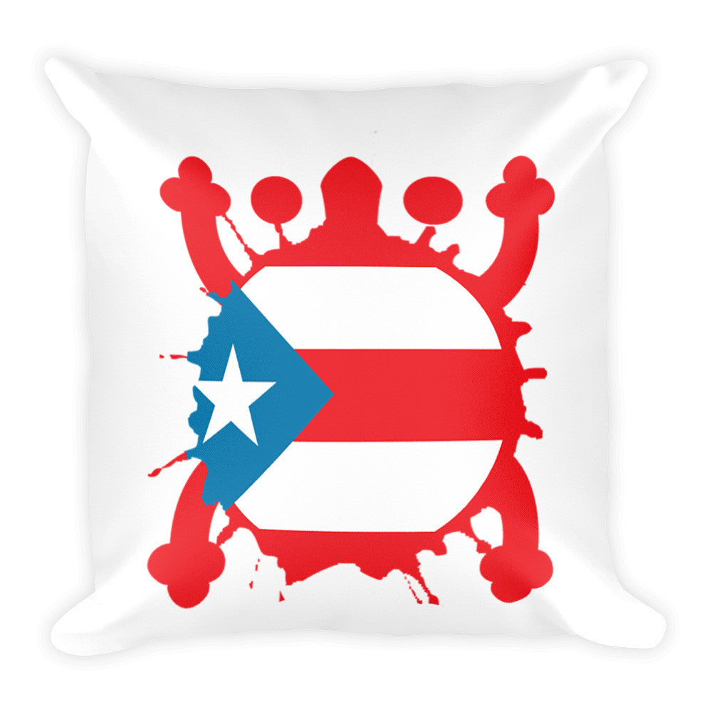 Puerto Rico Coqui and Flag Pillow Pillow - MyBorinquen.com Web Store