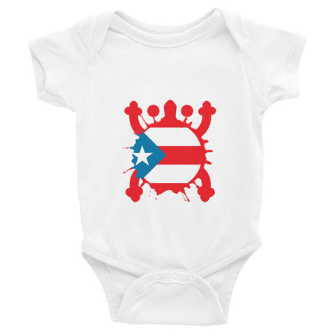Puerto Rico Coqui and Flag. Infant short sleeve one-piece Infant/Toddler - MyBorinquen.com Web Store