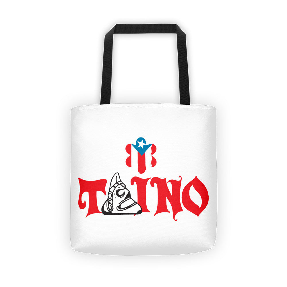 Taino and Puerto Rico Flag Sun Tote bag Apparel - MyBorinquen.com Web Store