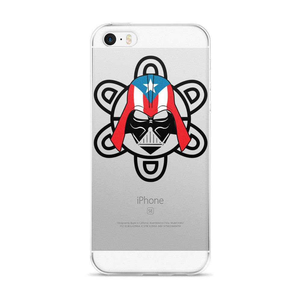 Puerto Rico Darth Vader with PR Flag and Taino Sun. iPhone case Cell Phone Case - MyBorinquen.com Web Store