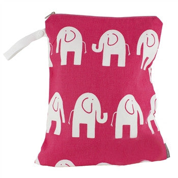 Logan + Lenora Pink Elephant Classic Wet Bag