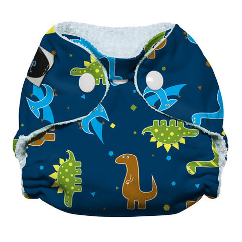 Imagine Newborn Bamboo AIO Snap Diaper- Rawr